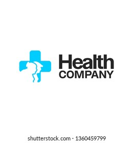 health cross elderly logo icon sign symbol vector eps 10