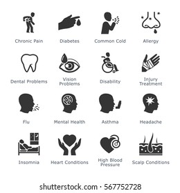 Health Diseases and Conditions Icons