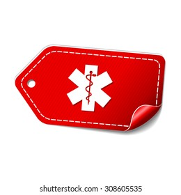 Health Emergency Sign Red Vector Icon Design