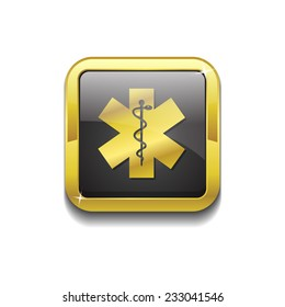 Health Emergency Sign Vector Icon Design