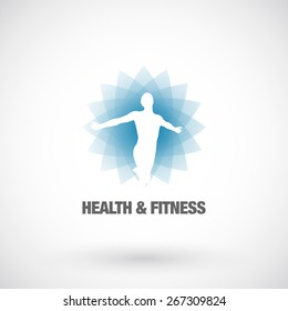 Health & Fitness  design element template. Business concept. Human abstract. Vector icon.