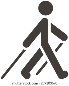 Health and Fitness icons set - Nordic Walking icon