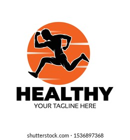 health and fitness logo ilustration