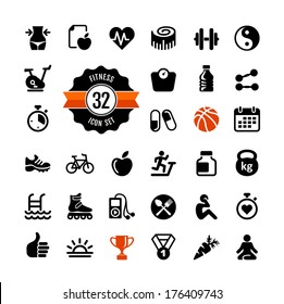 Health and fitness - web icon set