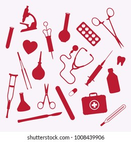 Health Flat Vector Medical Icons