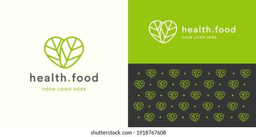 Health Food Logo Template Design