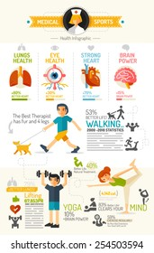 Health Infographic chart flat design style
