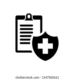 Health insurance form - Vector illustration document black