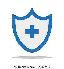 health insurance. icon. flat design.