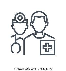 Health insurance icon suitable for info graphics, websites and print media and  interfaces. Line vector icon.