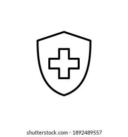 Health insurance icon vector. Insurance health document icon