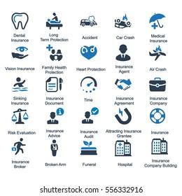 Health Insurance Icons - Blue Series (Set 2)