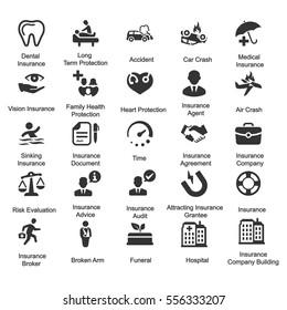 Health Insurance Icons - Gray Series (Set 2)