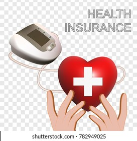 Health insurance isolated vector