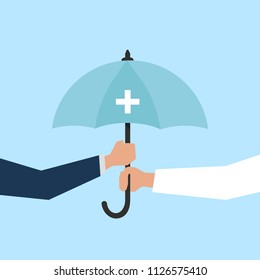 Health insurance and protection concept