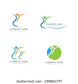Health life logo and symbol template icons vector - Vector