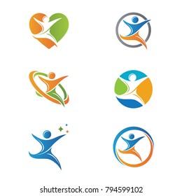 Health Logo Care People