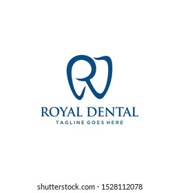 Health Logo design vector template Dental clinic Logotype with R sign