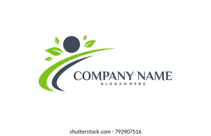 Health logo designs concept, Healthy People logo designs template
