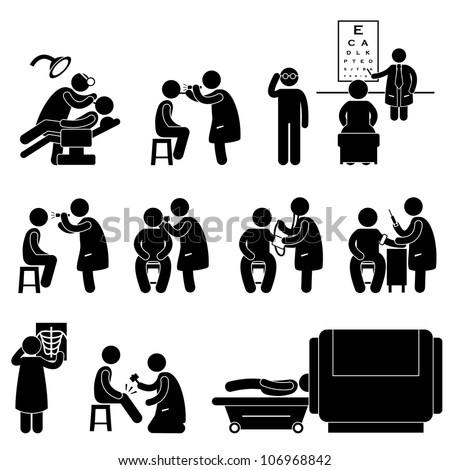health medical body check examination test のベクター画像素材