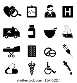 Health and medical icon set