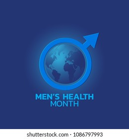 Men's Health Month logo icon. Vector illustration