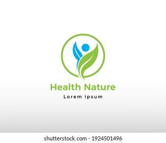 health nature logo creative logo health logo design care health