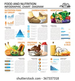 Health And Nutrition Food By Group Infographic Chart Diagram Vector Design Template