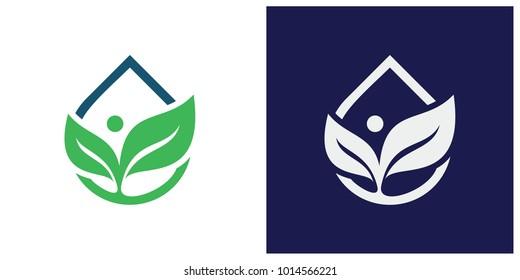 Health and nutrition logo vector