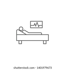 health, patient, recovery, room. Element of health icon. Thin line icon for website design and development, app development. Premium icon