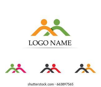 Health people care success life logo and symbols