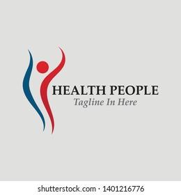 Health people logo sign illustration vector design