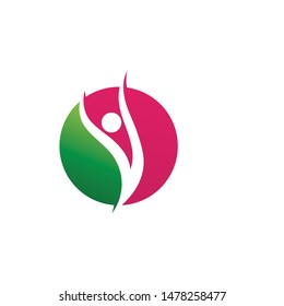 Health people logo and symbol vector
