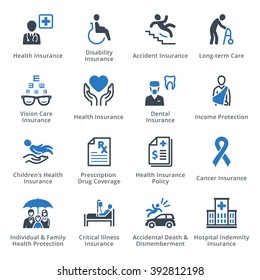Health Protection Icons - Blue Series