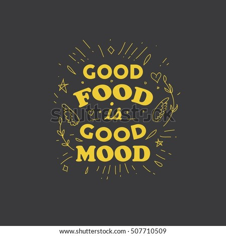 Food Quotes Health Quotes Good Food Quotes Stock Vector (Royalty Free  Food Quotes