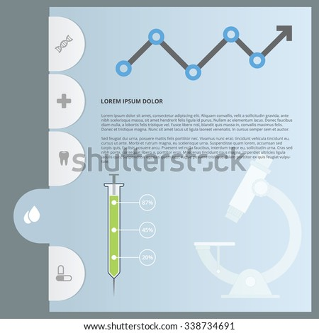 health report tabs navigation folder icon stock vector royalty free