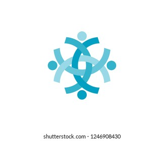Health success people care logo and symbols template