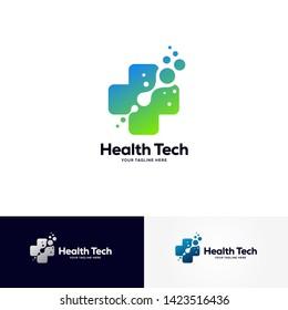 health tech logo designs template, healthcare logo designs