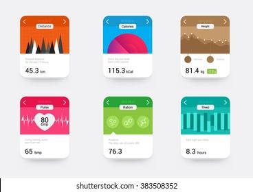 Health UI kit for smart watch