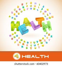 HEALTH. Vector 3d illustration.