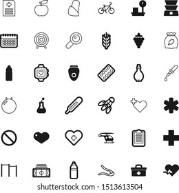 health vector icon set such as: insignia, business, droplet, tube, finger, epilators, wheel, internet, hygiene, seek, loupe, communication, cook, weightloss, olive, target, heat, grape, app, magnify