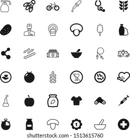 health vector icon set such as: injector, soccer, bright, forbidden, fruit, warning, spikelet, clothes, application, needle, structure, pills, career, skipping, growth, stairway, up, alcoholic