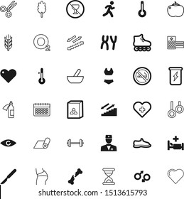 health vector icon set such as: clock, dna, weather, minimalistic, snikers, snack, surgeon, athlete, bikini, sneaker, ray, butt, biology, air, lifting, cutter, training, steel, surgical, shoes