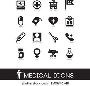 Health vector illustration. Collection of medical icons.