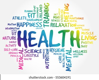 HEALTH word cloud collage, concept background