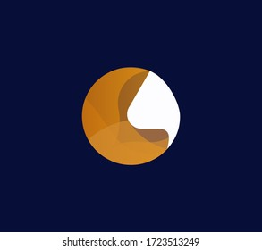 Healthcare abstract nose icon logo, medical element.