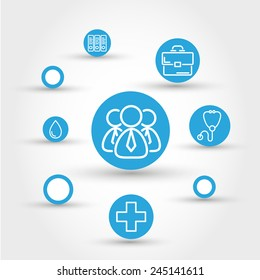 healthcare circle concept with people, medical concept