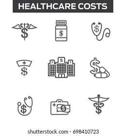Healthcare costs & expenses showing concept of expensive health care
