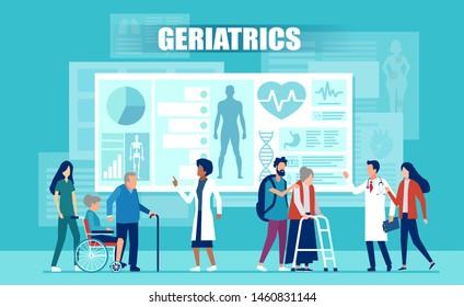 Ilustraciones Imágenes Y Vectores De Stock Sobre Geriatría