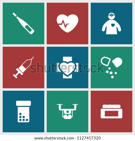 Healthcare Icon Collection 9 Healthcare Filled Stock Vector